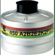 Cartouche anti-gaz aluminium A2B2E2K2P3 pour masque anti-gaz à système cartouche Honeywell standard RD40 photo du produit