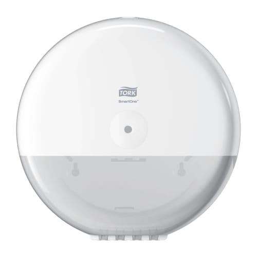 Distributeur de papier toilette rouleaux géant Smartone à dévidage central blanc photo du produit Back View L