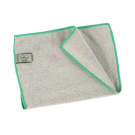Essuyage microfibre Mini 200 gris surjet vert 23 x 35 cm photo du produit