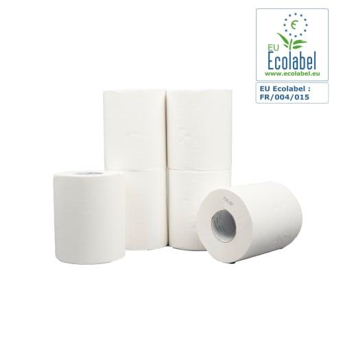 Essuyage dévidage central blanc 2 plis 450 formats 18,2 x 22 cm certifié Ecolabel photo du produit
