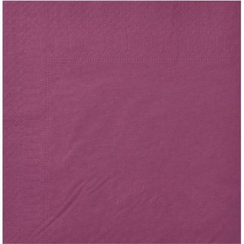 Serviette papier 2 plis 39 x 39 cm aubergine photo du produit