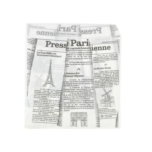 Sachet baggel papier 17x18 cm blanc imprimé photo du produit