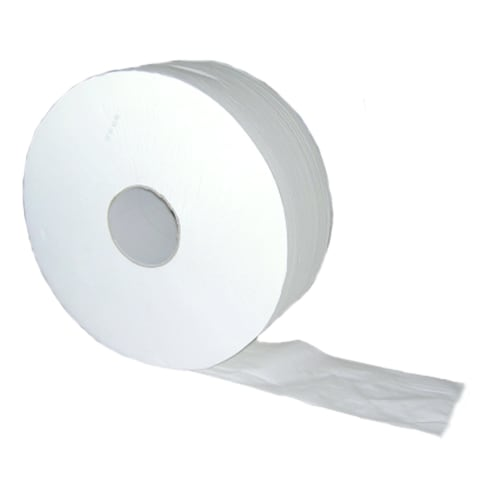 Papier toilette rouleau géant blanc 2 plis 380m prédécoupé 8,5 x 17,5 cm certifié Ecolabel photo du produit