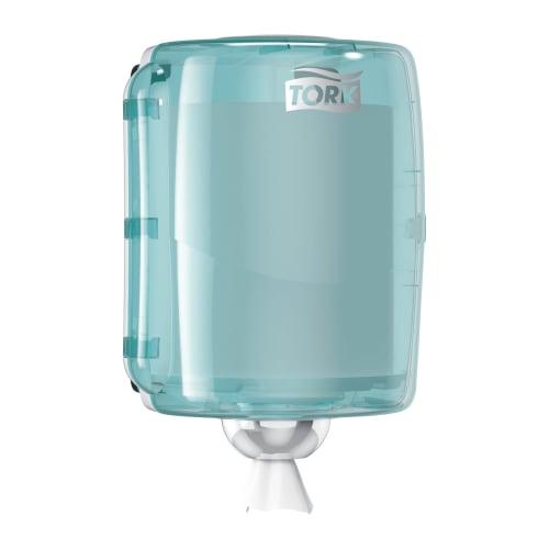 Distributeur d essuyage dévidage central W2 turquoise/blanc photo du produit Back View L