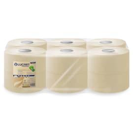 Papier toilette rouleau géant Havane 2 plis 180m prédécoupé 8,5 x 24 cm certifié Ecolabel photo du produit
