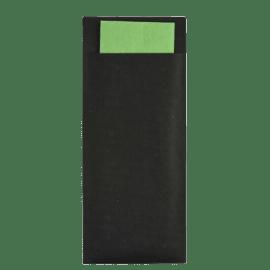 Pochette couverts ébène/pistache photo du produit