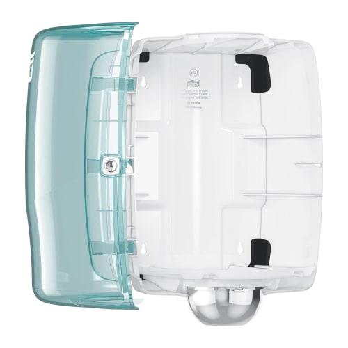 Distributeur d essuyage dévidage central W2 turquoise/blanc photo du produit Side View L