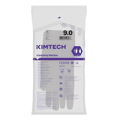Gant de protection chimique stérile Kimtech Pure G3 Sterling gris non poudré 30cm taille 9 photo du produit Side View L