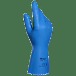 Gant de protection chimique latex support tissu Jersette food 308 bleu taille 8 photo du produit