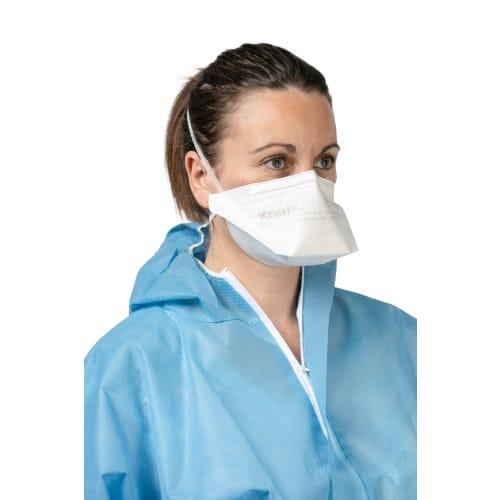 Masque médical et de protection Op-Air Pro OXYGEN FFP2 NR D type IIR blanc en vrac photo du produit
