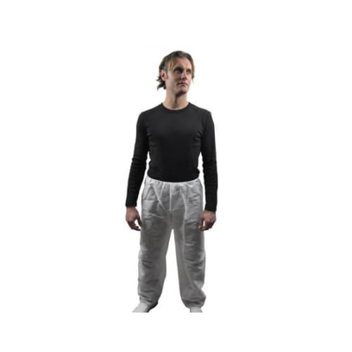 Pantalon à usage unique PLP 45g/m² élastiques taille blanc taille XL photo du produit