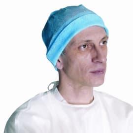 Bonnet universel non-tissé perforé bleu photo du produit