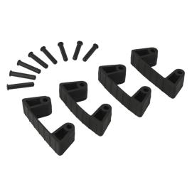 Lot de 4 clips caoutchouc pour support mural noir photo du produit
