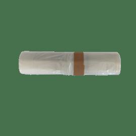 Sac plastique PE BD 100L transparent 28µm sans lien photo du produit