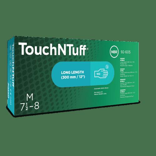 Gant de protection chimique nitrile TouchNTuff 92-605 vert non poudré taille L photo du produit Back View L