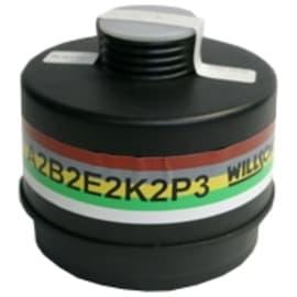 Cartouche anti-gaz A2B2E2K2P3 pour masque anti-gaz à système cartouche Honeywell standard RD40 photo du produit