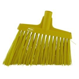 Balai biseauté fibres dures alimentaire PLP 29cm jaune photo du produit