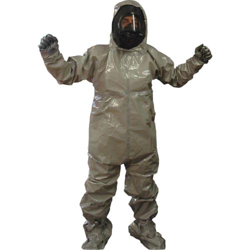 Combinaison de protection Jetguard Plus type 3-B cagoule butyle chaussettes couvre-bottes gants Silvershield incorporés gris taille XL photo du produit