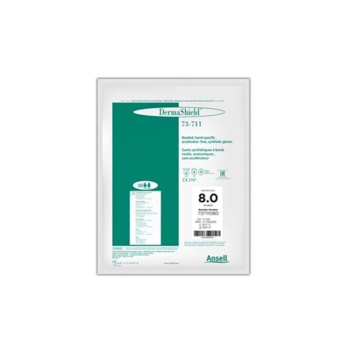 Gant à usage unique stérile Néoprène Dermashield 73-711 vert non poudré taille 6,5 photo du produit Back View L