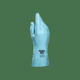 Gant de protection chimique UltraNitril 454 (ex Optimo 454) latex turquoise flocké coton hypoallergénique 31cm taille 7/7,5 photo du produit
