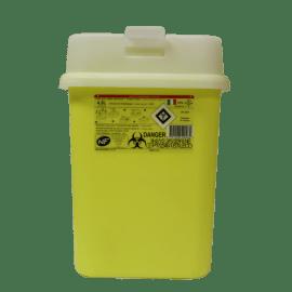 Collecteur boîte à aiguilles DASRI 4,5L Essentia+ NF X avec couvercle maxi photo du produit
