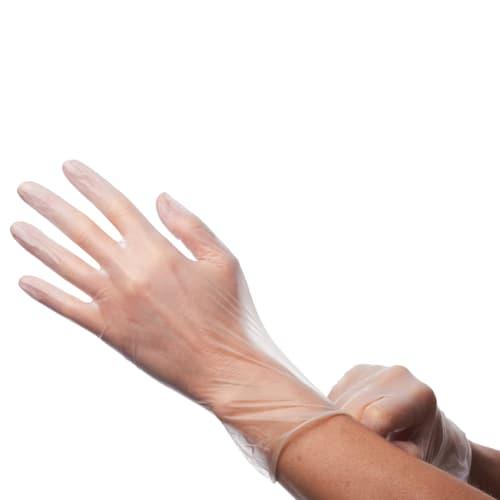 Gant à usage unique vinyle transparent non poudré taille M photo du produit