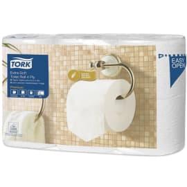 Papier toilette petit rouleau blanc 4 plis 150 feuilles 9,7 x 12,5 cm certifié Ecolabel photo du produit