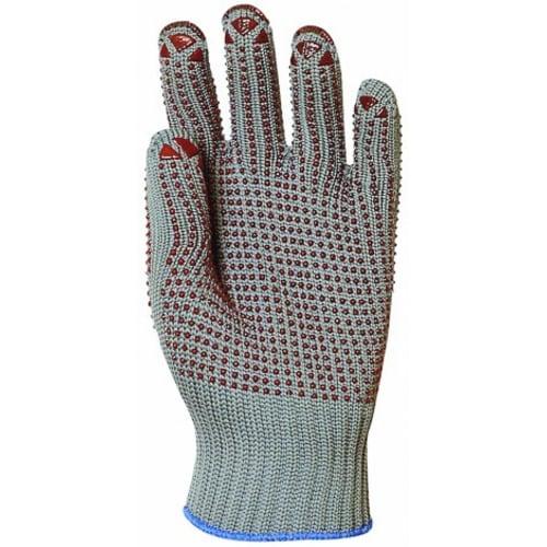 Gant de manutention nylon gris picots rouges double face taille 9/10 photo du produit