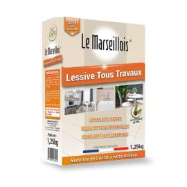 Le Marseillois lessive tous travaux à la résine de pin boîte de 1,25kg photo du produit