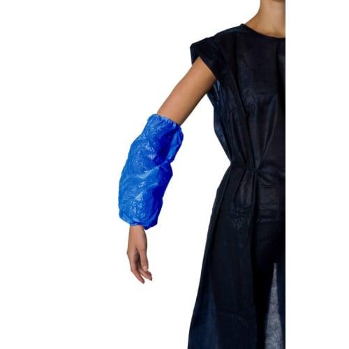 Manchette PE PROP 15µm bleu 37 x 20 cm taille M photo du produit