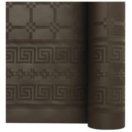 Nappe de table papier damassé 1,20 x 25 m chocolat photo du produit