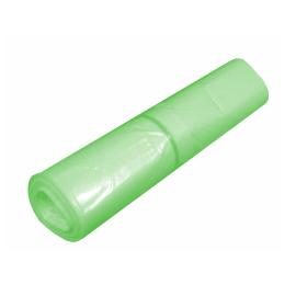 Sac plastique PE BD 130L vert transparent 45µm photo du produit