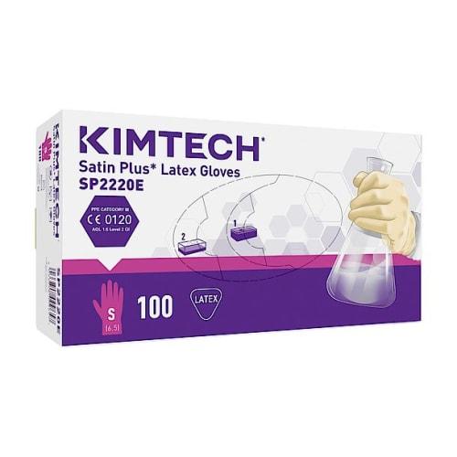 Gant de protection chimique latex Kimtech Science Satin Plus taille S photo du produit Side View L
