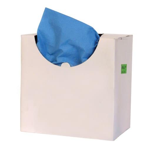 Alèse ouate bleue plastifiée 39 x 40 cm photo du produit