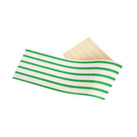 Bandeau microfibre Dispomop 3D blanc/vert 11,5 x 50 cm photo du produit