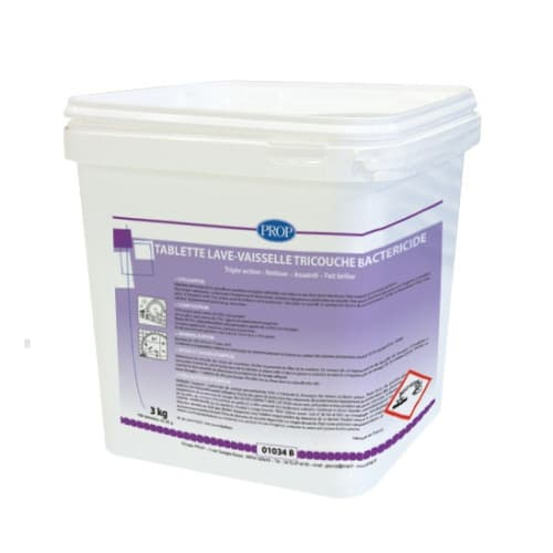 PROP Tablettes lave-vaisselle tricouches bactéricide seau de 150 doses de 20g photo du produit