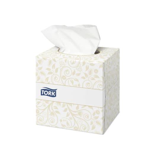 Boîte de mouchoirs blancs 2 plis 21 x 21 cm certifié Ecolabel photo du produit