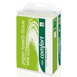 Essuie-mains plié blanc 2 plis 20,6 x 24 cm certifié Ecolabel photo du produit