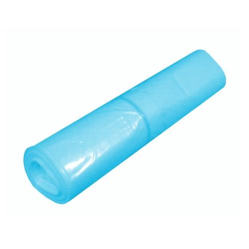 Sac plastique PE BD 90L bleu transparent 35µm photo du produit