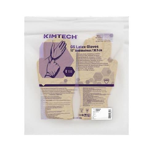 Gant de protection chimique latex Kimtech Pure G5 taille S photo du produit Side View L