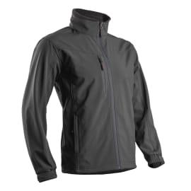Veste micropolaire Softshell enduite polyester/spandex respirant et étanche noir taille XXL photo du produit