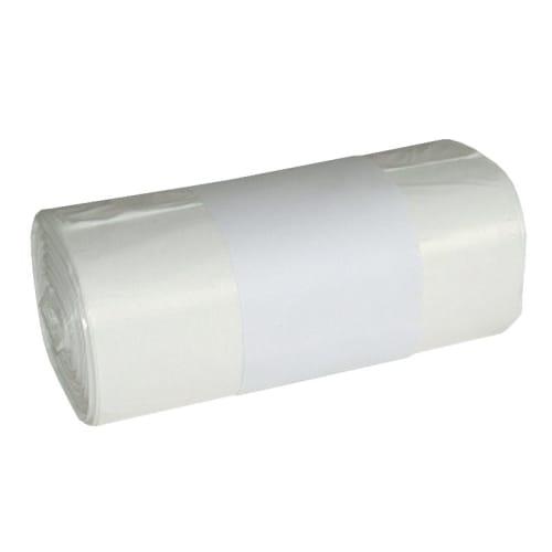 Sac plastique PE HD Héracène 20L blanc 7µm photo du produit