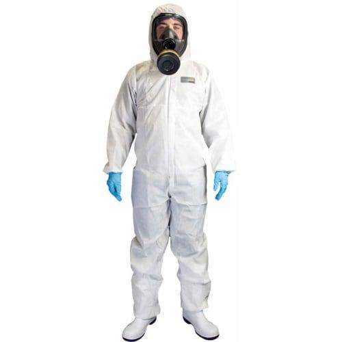 Combinaison de protection Chemsplash Xtreme SMS type 5-6 élastiques cagoule poignets taille chevilles blanc taille L photo du produit
