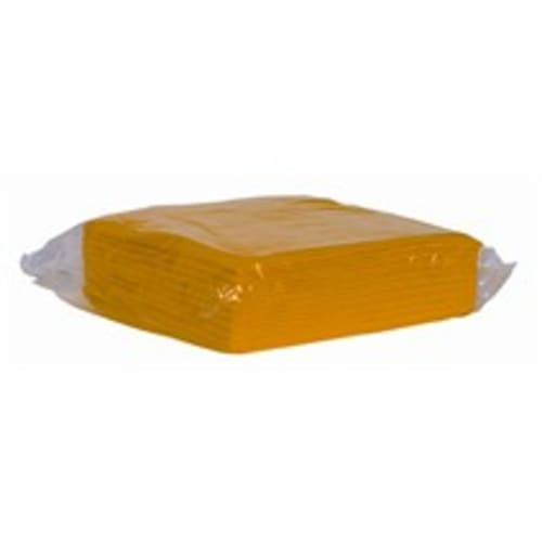 Essuyage non-tissé lavettes jaunes 38 x 38 cm photo du produit