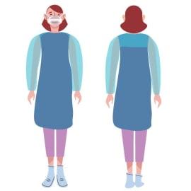Kit blouse de soins étanche PE (1 paire de manchette et 1 tablier) photo du produit