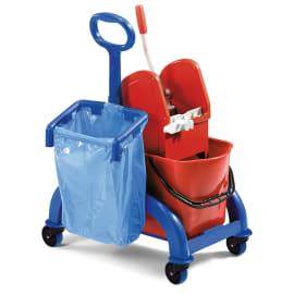 Chariot Fred 2x15L timon latéral avec presse à mâchoires et support sac photo du produit