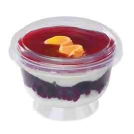 Couvercle bas pour coupe à dessert 190 cc Ø100mm transparent photo du produit