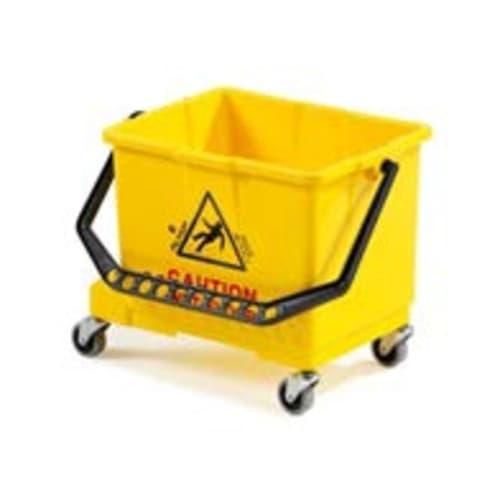 Seau PLP 15L jaune avec roues photo du produit