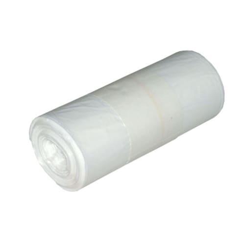 Sac plastique PE HD 30L blanc 14µm NFE photo du produit