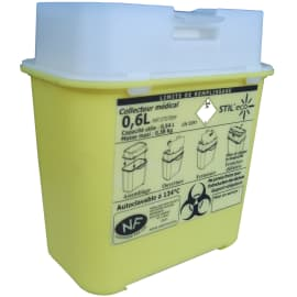 Collecteur boîte à aiguilles DASRI 0,6L Essentia NF X photo du produit